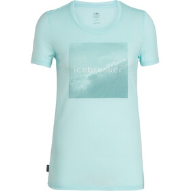 Icebreaker Tech Lite Cadence Pulse SS Low Crewe Top Women wavelogo/aqua splash